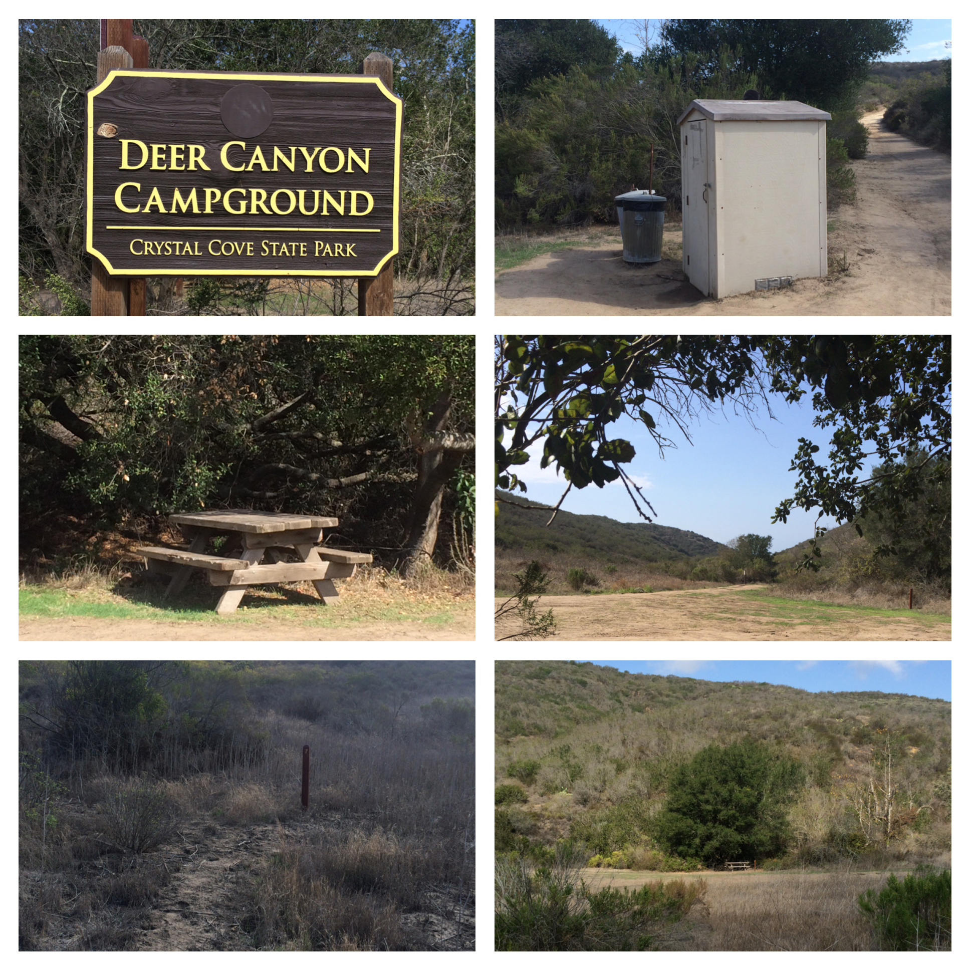 Camping in the backcountry crystal cove get in touch crystal cove state park nvjuhfo Image collections